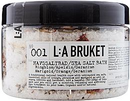 Kup Sól morska do kąpieli Aksamitka, pomarańcza, geranium - L:A Bruket No. 001 Sea Salt Bath Marigold/ Orange/ Geranium