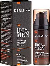 Kup Krem przeciw zmarszczkom i bruzdom dla mężczyzn 50+ - Dermika 100% For Men Anti-Wrinkle And Anti-Furrow Cream