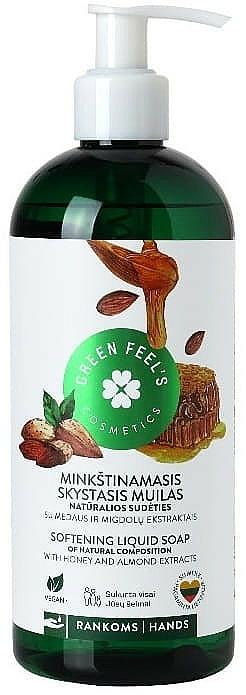 Mydło w płynie z ekstraktem z miodu i migdałów - Green Feel's — фото N1