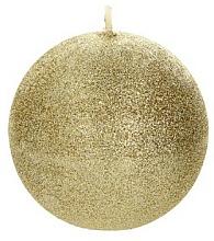 Kup Świeca dekoracyjna, złota kula, 8 cm - Artman Glamour