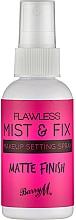 Kup Spray utrwalający makijaż - Barry M Flawless Mist & Fix Make-Up Setting Spray Matte
