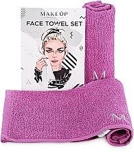 Kup Podróżny zestaw liliowych ręczników do twarzy MakeTravel - Makeup