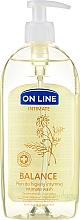 Kup Płyn do higieny intymnej z rumiankiem, kwasem mlekowym i d-panthenolem - On Line Intimate Balance