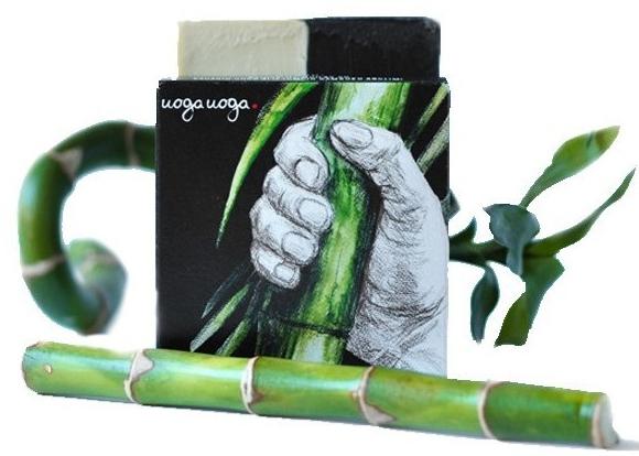 Naturalne mydło w kostce z olejkiem z jałowca i węglem drzewnym - Uoga Uoga Bravo! Natural Detoxifying Soap — фото N1