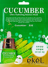 Kup Maska na tkaninie do twarzy z ekstraktem z ogórka - Ekel Cucumber Ultra Hydrating Essence Mask