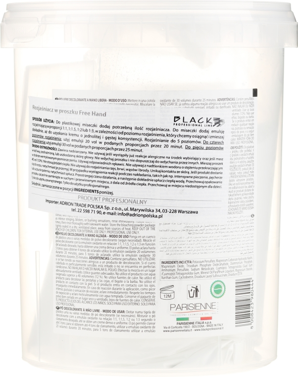 Proszek do rozjaśniania włosów - Black Professional Line Bleaching Powder For Free-Hand — фото N2