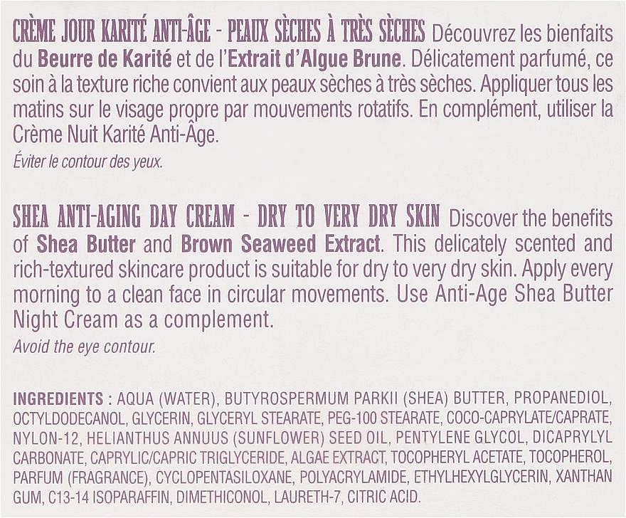 Przeciwzmarszczkowy krem do twarzy na dzień - Institut Karite Shea Anti-Aging Day Cream — фото N3