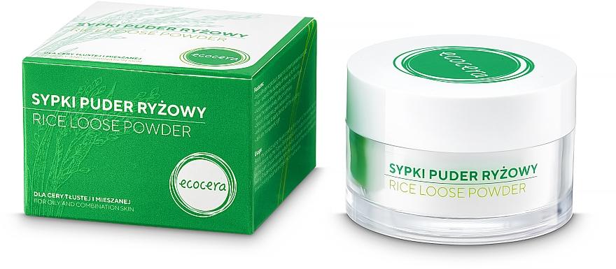 Matujący puder ryżowy - Ecocera Rice Face Powder — фото N2
