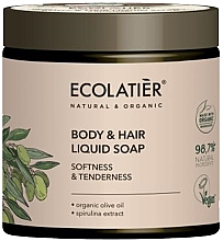 Kup Mydło do ciała i włosów Miękkość i delikatność - Ecolatier Organic Olive Body & Hair Liquid Soap