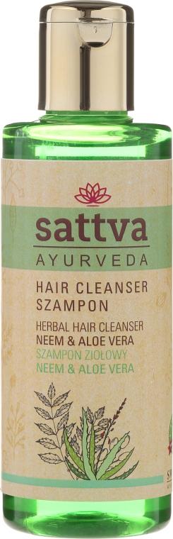 Ziołowy szampon do włosów Neem i aloes - Sattva Cleanser Shampoo Neem Aloe Vera — фото N1