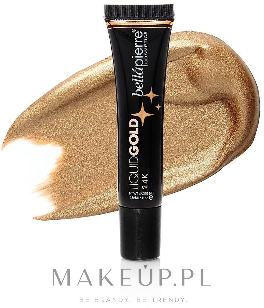 Rozświetlacz w płynie do twarzy - Bellapierre Cosmetics Liquid Gold Illuminating Fluid — фото 24k