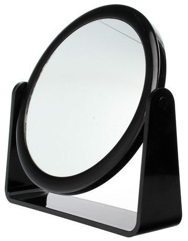 Lusterko kosmetyczne dwustronne 85055, czarne - Top Choice — фото N1