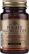 Kup Suplement diety Kwas foliowy, 400 mcg - Solgar Health & Beauty Folate 666 MCG DFE