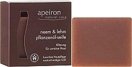Kup Naturalne mydło w kostce Miodla indyjska i glinka do skóry problematycznej - Apeiron Neem & Clay Plant Oil Soap