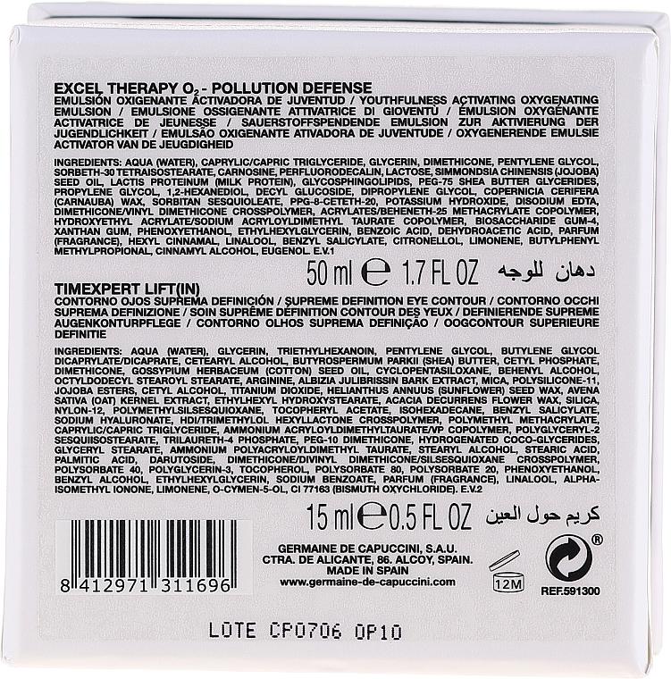 Zestaw - Germaine de Capuccini Excel Therapy (f/emulsion/50ml + eye contour cr/15 ml) — фото N4