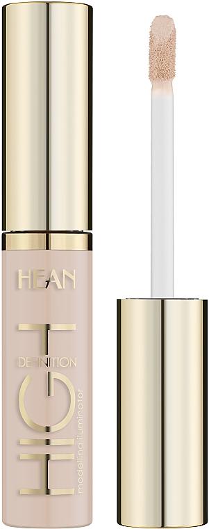 Korektor do twarzy i pod oczy Rozświetlacz modelujący - Hean High Definition Eye & Skin Lightening Concealer
