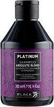 Kup PRZECENA! Szampon do włosów blond z organicznym ekstraktem z migdałów - Black Professional Line Platinum Absolute Blond Shampoo *