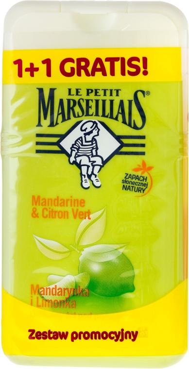 Zestaw Mandarynka i limonka - Le Petit Marseillais (sh/gel/250ml + sh/gel/250ml)