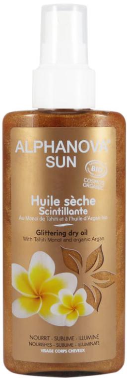 Rozświetlający olejek do ciała utrwalający opaleniznę - Alphanova Sun Dry Oil Sparkling