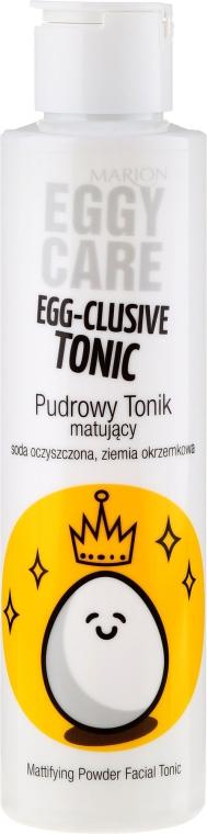 Pudrowy tonik matujący do twarzy - Marion Egg-Cellent Tonic Eggy Care