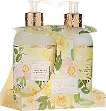 Zestaw do pielęgnacji ciała - Baylis & Harding Royale Bouquet Lemon Blossom & White Rose (b/lot 300 ml + soap 300 ml) — фото N1