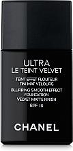 Kup Ultralekki długotrwały podkład matujący do twarzy - Chanel Ultra Le Teint Velvet Blurring Smooth-Effect Foundation SPF 15