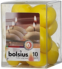 Kup Zestaw ozdobnych świec w kolorze żółtym - Bolsius