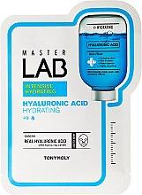 Kup Nawilżająca maska na tkaninie do twarzy z kwasem hialuronowym - Tony Moly Master Lab Hyaluronic Acid Mask