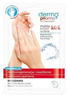 Maska-kompres SOS na dłonie Dermoregeneracja i nawilżenie - Dermo Pharma