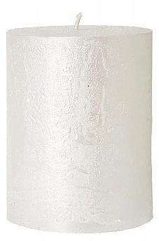 Świeca dekoracyjna, perłowa, 7 x 10 cm - Artman Rustic Metalic  — фото N1