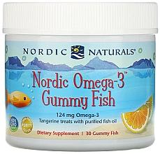Kup Suplement diety dla dzieci o smaku mandarynki Omega 3, 124 mg - Nordic Naturals Gummy Fish