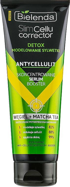Skoncentrowane serum-booster antycellulitowe Węgiel + matcha tea - Bielenda Slim Cellu Corrector