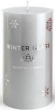 Kup Świeca zapachowa, szara, 7 x 8 cm - Artman Winter Glass