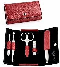 Kup Zestaw do manicure, 5 elementów - Tweezerman Twinox Red Manicure Case Box