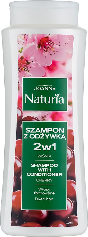 Szampon z odżywką do włosów farbowanych Wiśnia - Joanna Naturia