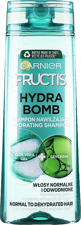 Wzmacniający szampon do włosów odwodnionych - Garnier Fructis Aloe Hydra Bomb Shampoo