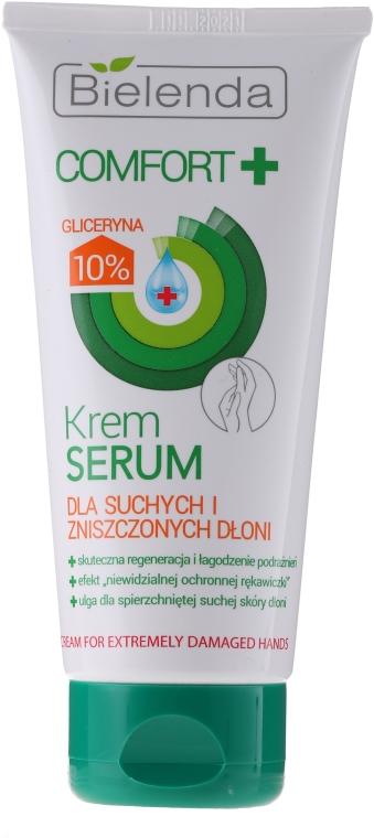 Krem-serum do suchych i zniszczonych dłoni - Bielenda Comfort+