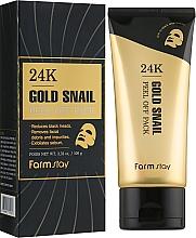 Kup Maska do twarzy z 24-karatowym złotem i mucyną ślimaka - FarmStay 24K Gold Snail Peel Off Pack