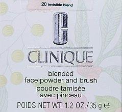 Kup PRZECENA! Sypki puder do twarzy z pędzlem - Clinique Blended Face Powder And Brush*