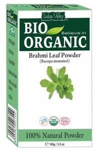 Puder z liści brahmi do włosów słabych i łamliwych - Indus Valley Bio Organic — фото N1