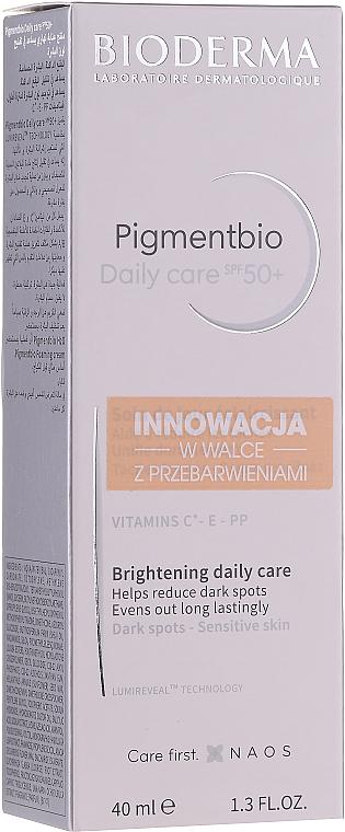 Krem do cery wrażliwej rozjaśniający przebarwienia - Bioderma Pigmentbio Daily Care Brightening Daily Care SPF 50+