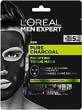 Kup Maska do twarzy w płachcie dla mężczyzn - L'Oreal Paris Men Expert Pure Charcoal