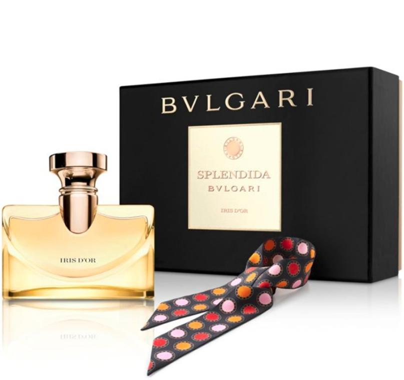 Bvlgari Splendida Iris D`Or - Zestaw ( edp/100ml + scarves)