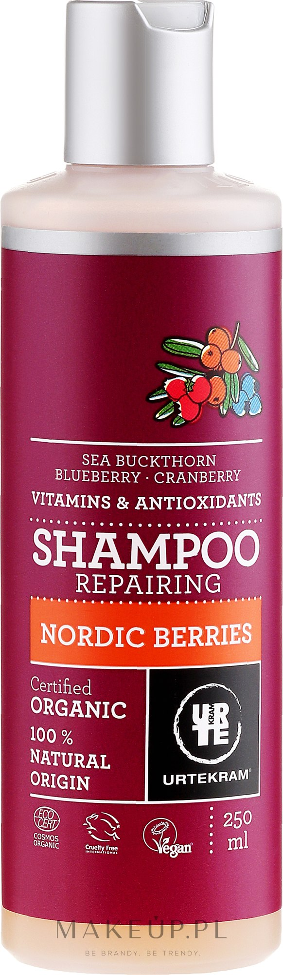 Organiczny szampon naprawczy do włosów Nordyckie jagody - Urtekram Nordic Berries RepairingShampoo — фото 250 ml