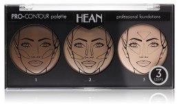 Kup Paletka do konturowania twarzy 3 kolory - Hean Pro-Countour Palette