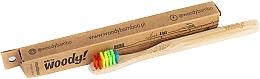 Kup Bambusowa szczoteczka do zębów dla dzieci, miękkie kolorowe włosie - WoodyBamboo Bamboo Toothbrush Kids Soft/Medium
