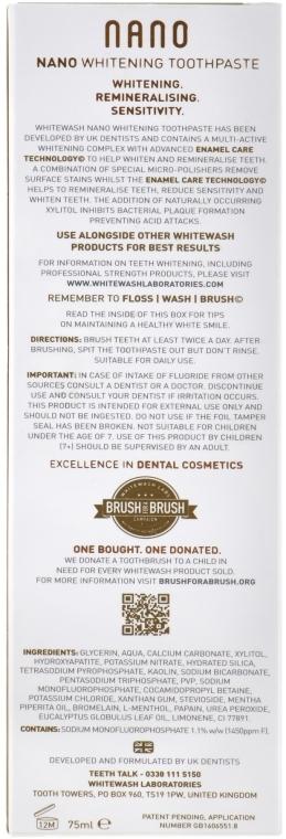 Wybielająca pasta do zębów - WhiteWash Laboratories Nano Whitening Toothpaste — фото N3