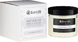 Kup Naturalna świeca sojowa Czerwona róża - Eco Life Candles