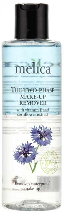 Dwufazowy płyn do demakijażu oczu z witaminą E i wyciągiem z bławatka - Melica Organic The Two Phase Make-Up Remover