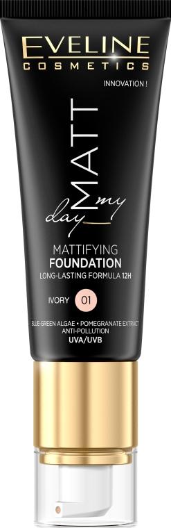 Matujący podkład do twarzy - Eveline Cosmetics Matt My Day Mattifying Foundation
